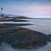 Night closes in at Peggy's Cove, Nova Scotia | Canada