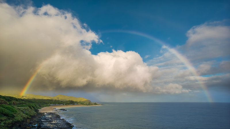 Rainbow Over Sandy Beach (Hawaii)