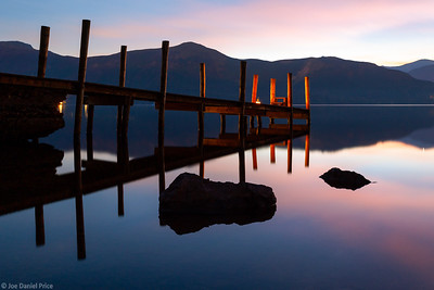 Night, Ashness Jetty, Keswick, Derwent Water, Lake District, Cumbria, England
