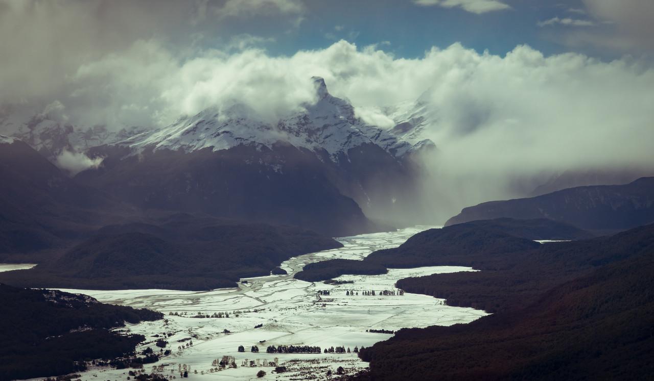 Moody New Zealand Landscape