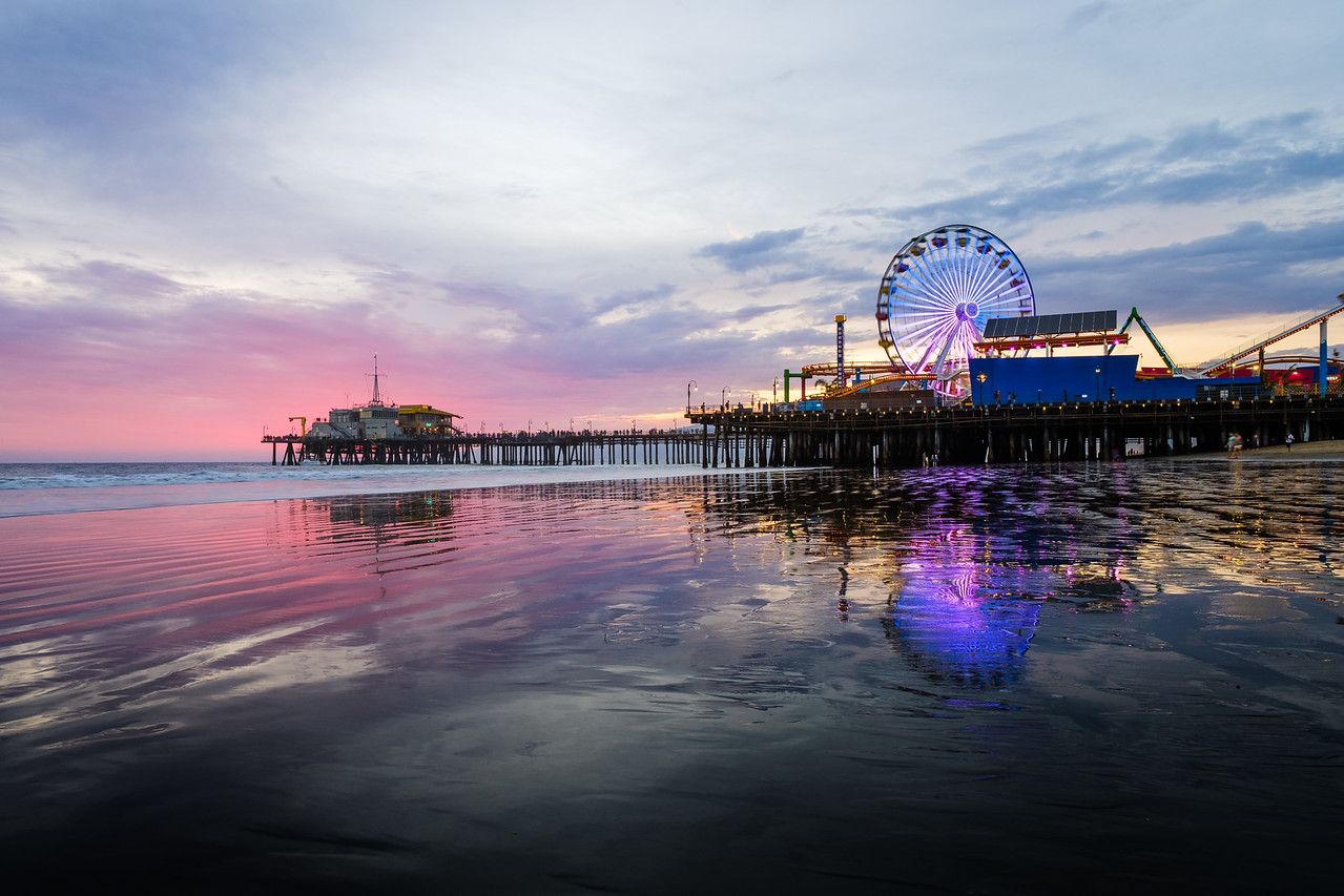 Santa Monica Pier - Low Tide