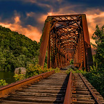 Idleness of the Great Gauley Train Bridge