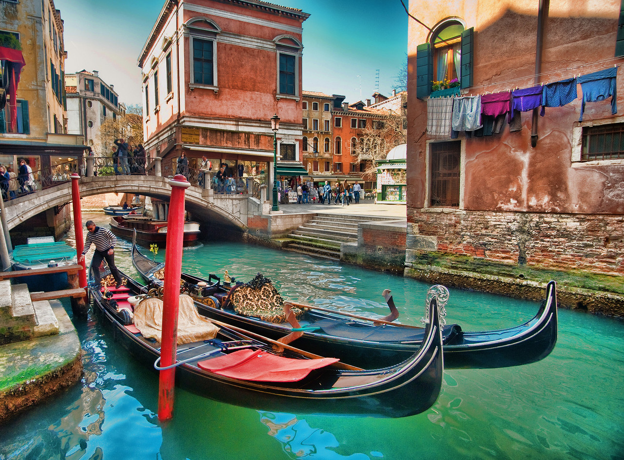 Real life in Venice is just as colorful