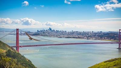 Soaring over San Francisco