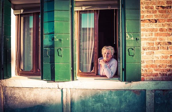 Through A Window In Burano