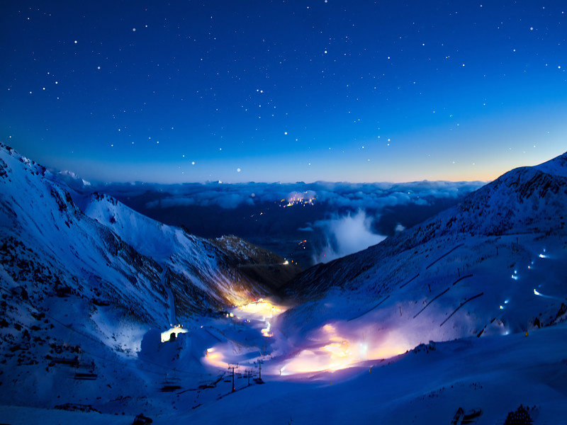 The Remarkables Ski Fields Just Before Sunrise
