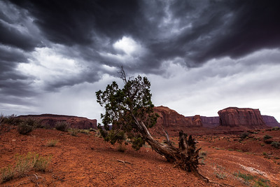 Stormy Weather at Monument Valley