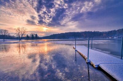 Snowy Hudson Springs Morning