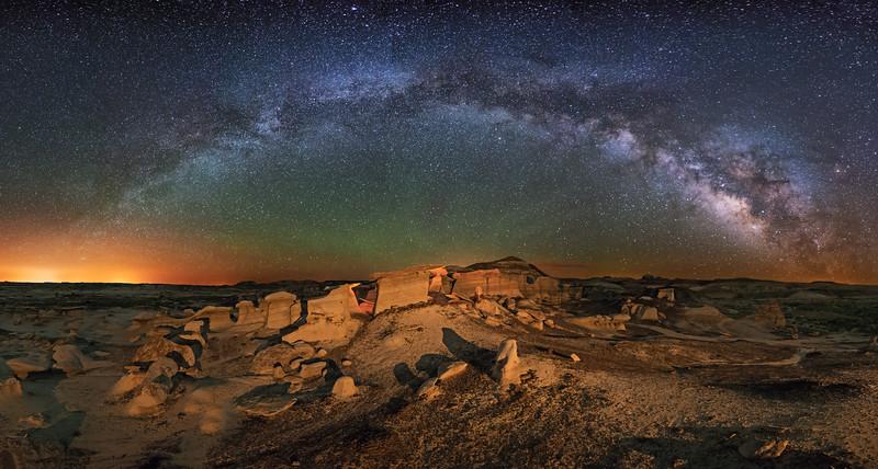 Bisti Badlands Hoodoos Panorama