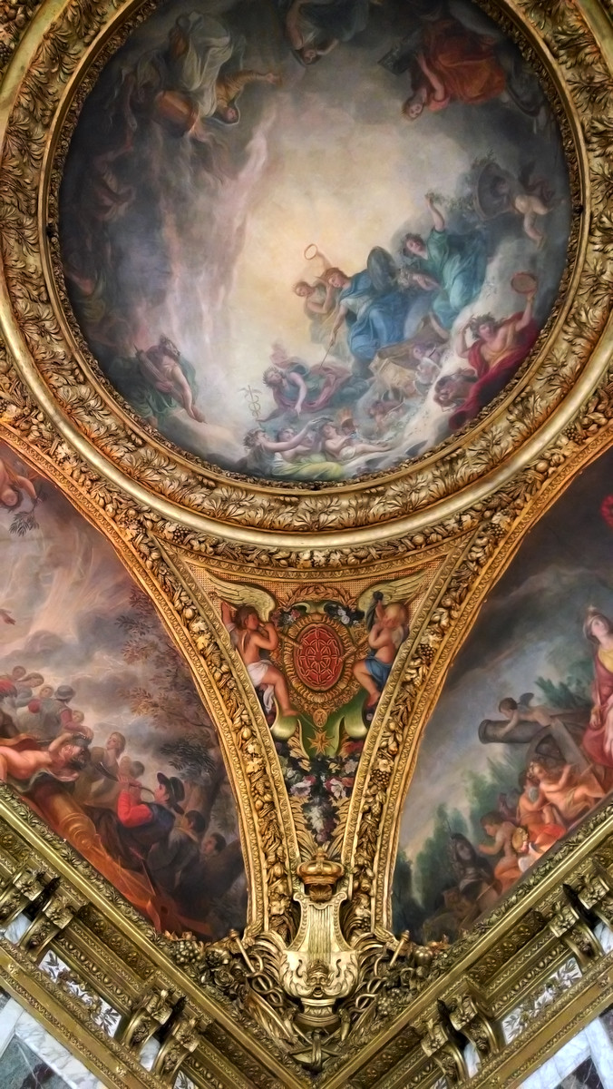 Palace of Versailles ceiling , France