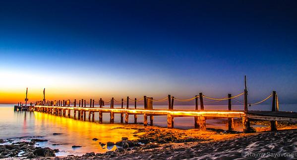 Cozumel Sunset - Cozumel Pier Mexico