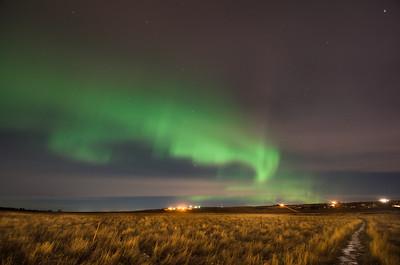 Northern Lights seen from Williston, ND.