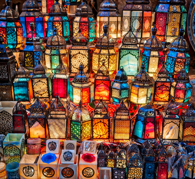 Lamps In Cairo Bazaar