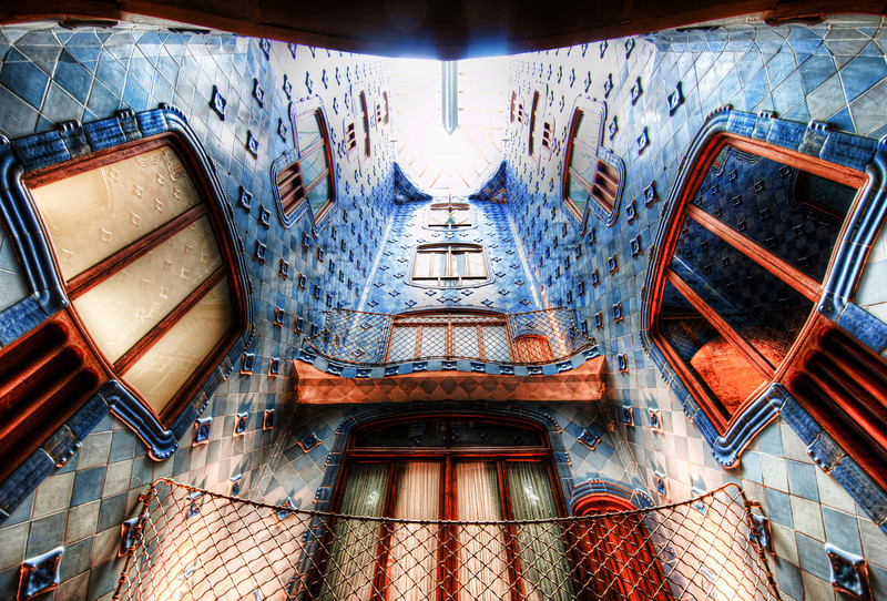 "The Shaft Casa Batlló on Passeig de Gracia is one of the most awesome places in the world.  My camera was very happy (and me, by extension).This is one of Antoni Gaudi's masterpieces.  That guy is amazing...  It was certainly on my list to visit before the trip, and I did not really have enough time to spend there.  And, I couldn't use the tripod, but I don't want to get into that discussion...just too frustrating.""The Shaft"" runs up the center of the casa.  It reminds me of how each floor was a completely different visual experience.  Taking photos in here was a challenge... I wanted to do the place justice.- Trey RatcliffClick here to read the rest of this post at the Stuck in Customs blog."