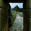 Huayna Picchu Through The Window - Machu Picchu Peru