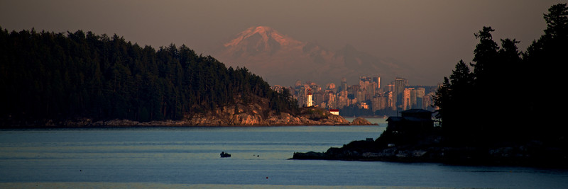 Mount Baker Looming in the distance behind Van City
