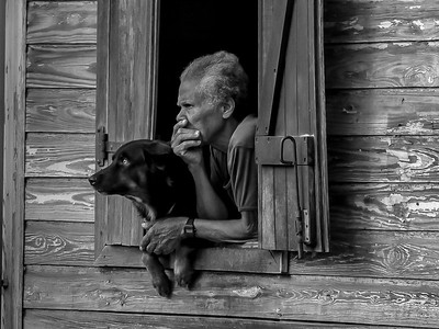 a man and his dog