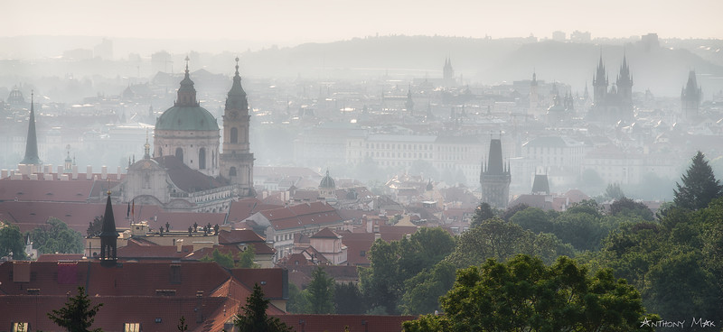 """Prague in Morning Mist"""