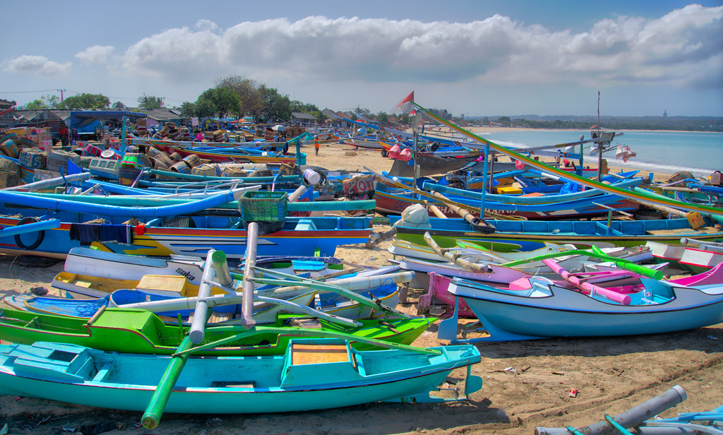 Beached Boats in Bali