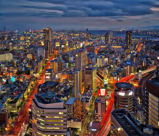 Osaka at Dusk