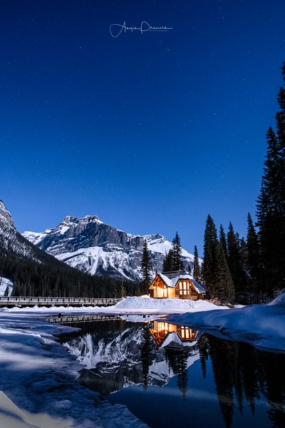Emerald Lake Under the Sugar Moon