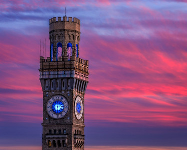 Red Sky at the BromoSeltzer Arts Tower, Baltimore, Maryland