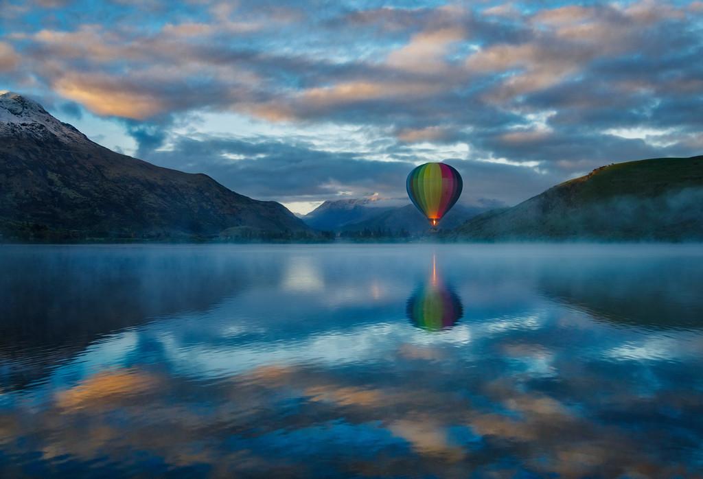 A Balloon in the Morning Fog