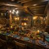 Eating Dinner In Hobbiton
