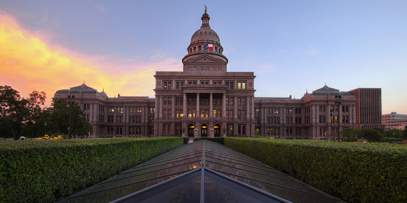 Blue Hour At The Texas State Capitol Building