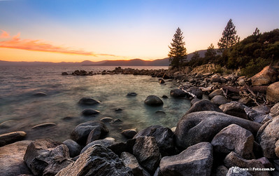 Pôr Do Sol No Lake Tahoe