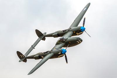 WWII Vintage P-38 Fighter Plane