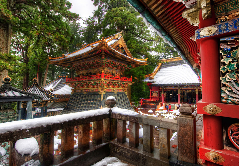 """<h2>Snow in Nikko</h2> <br/>It was a freezing cold morning when I woke up to explore this temple area of Nikko. Luckily, I was the first person to arrive, and I was pretty much alone for this early morning because of the snow. It gave me a peaceful period to explore with my music on… taking my time and moving around the temple to take in the big picture and all the nice little details.<br/><br/>- Trey Ratcliff<br/><br/><a href=""""http://www.stuckincustoms.com/2011/07/25/new-hdr-tutorial-2/"""" rel=""""nofollow"""">Click here to read the rest of this post at the Stuck in Customs blog.</a>"""