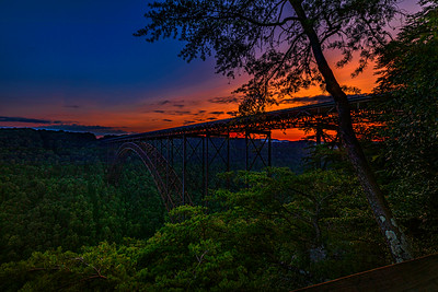 Sunset on the New River Gorge