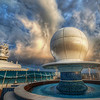 """<h2>The Sphere of Influence</h2> <br/>I thought this sphere was so unusual when I saw it the first time. There's a radar under there, but the design of the housing is pretty cool and modern… And it sits in the middle of an awesome adults-only swimming pool on the front of the Disney Fantasy… very cool.<br/><br/>- Trey Ratcliff<br/><br/><a href=""""http://www.stuckincustoms.com/2012/07/21/the-sphere-of-influence/"""" rel=""""nofollow"""">Click here to read the rest of this post at the Stuck in Customs blog.</a>"""
