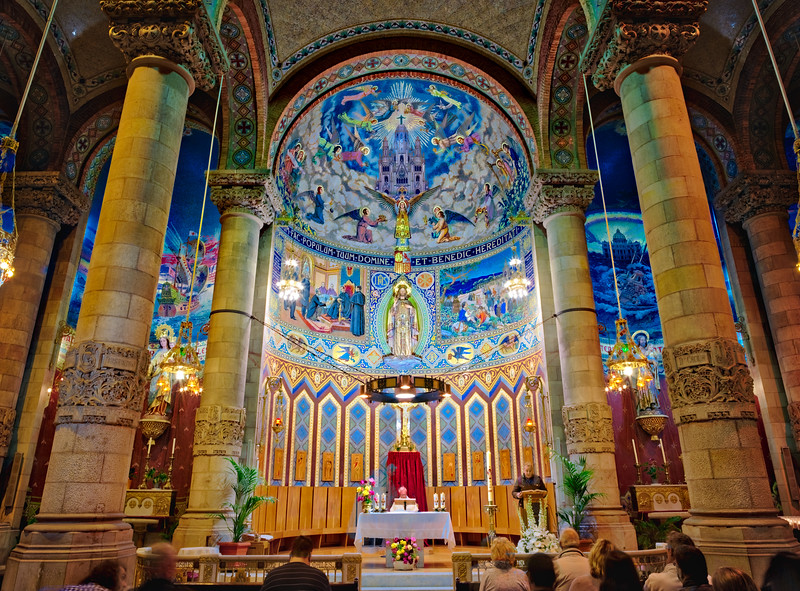 Inside A Cathedral At Tibidabo