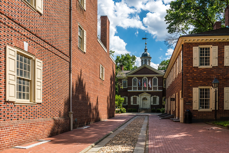 Colonial Street Leading to Carpenter's Hall