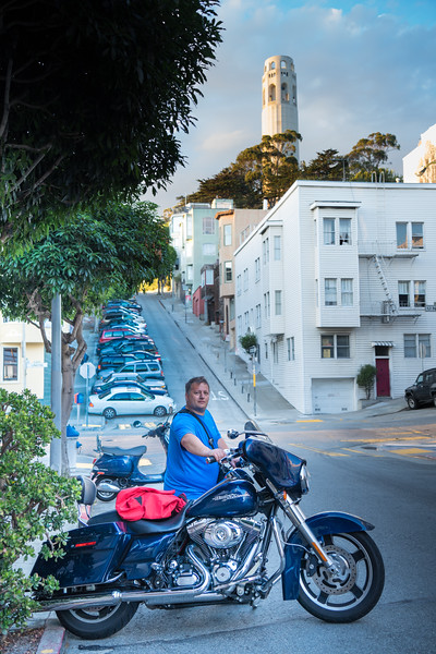 Telegraph Hill with Motorcycle