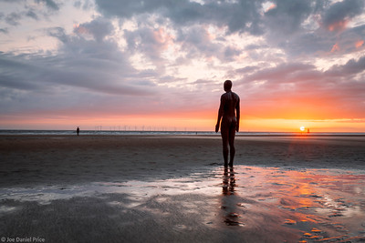 Another Place, Sculpture by Antony Gormley, Crosby Beach, Liverpool, England