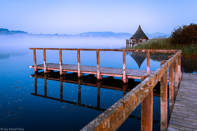 Early Morning at the Thatched Hut at Llangorse Lake, Brecon Beacons, Wales
