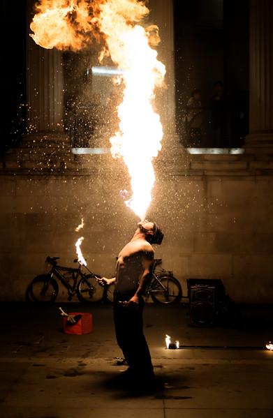 London's Fire Dancer