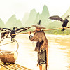 Fishing with Cormorant Birds in China