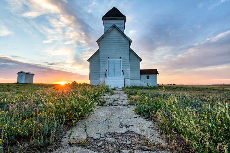Limon Church Sunrise ~ Colorado