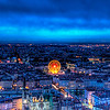 "<h2>Lyon in the Evening</h2> <br/>Hiking to the top of this beast with my camera and tripod was a lot tougher than it looked!<br/><br/>I saw this area from the train as I came into Lyon, and I was bound and determined to get to the top before dark. As I began the switchbacks, the darkness was falling, so I had to switch my iPod over to some upbeat music to drive me to the top in time. As soon as I got up there, the ferris wheel lit up and the city came alive with light. Like a marine with his gun, I assembled the tripod, ran through my settings on the camera, and fired away.<br/><br/>- Trey Ratcliff<br/><br/><a href=""http://www.stuckincustoms.com/2008/12/03/lyon-in-the-evening/"" rel=""nofollow"">Click here to read the rest of this post at the Stuck in Customs blog.</a>"