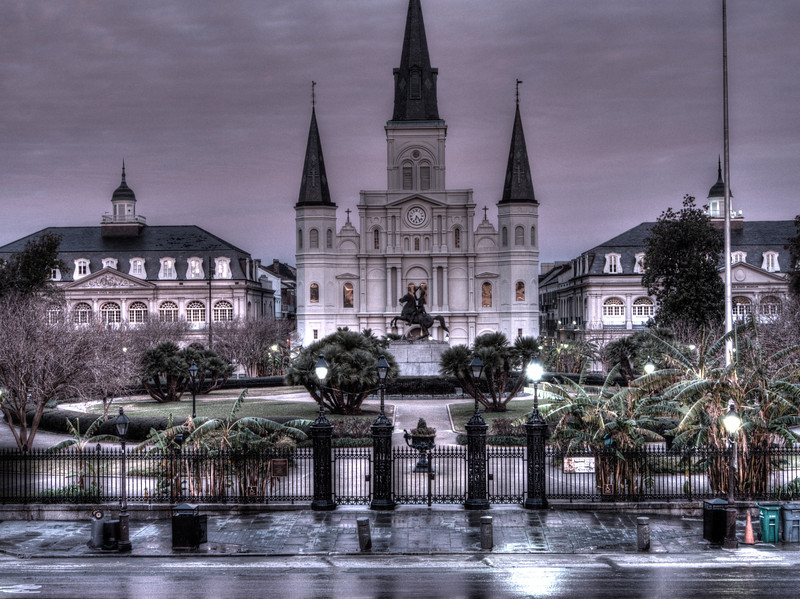 Jackson Square with a hint of color
