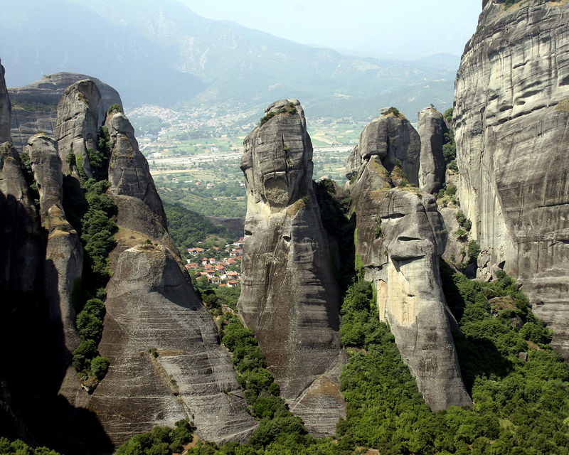 Meteora - with Kalambaka in the background