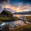 Faroe Church Sunrise