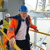 """DPWorld London Gateway hosts Mayor of London Boris Johnson as he tours the Billion pound port on the banks of the River Thames in Stanford Le Hope, Essex, UK<br /> Pic: NICK STRUGNELL© 07966804465<br />  <a href=""""http://www.nickstrugnell.com"""">http://www.nickstrugnell.com</a>"""