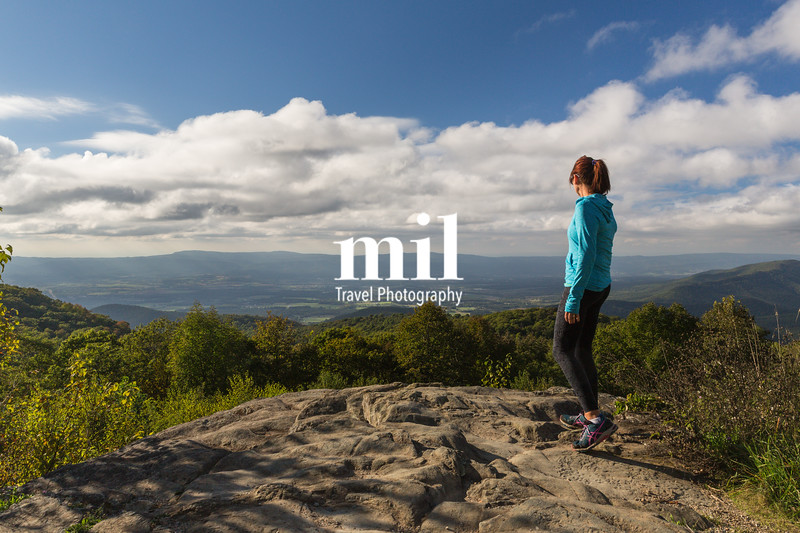 Woman over looking the Blue Ridge Mountains  - inspirational view