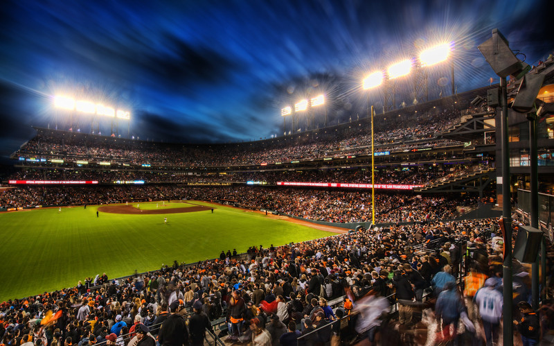 """<h2>Giants Stadium</h2> <br/>When I spent the evening at the Giants game in San Francisco, we had carte blanche to go anywhere and shoot anything, so that was pretty awesome. Tom and I had the number of the PR guy in our pocket in case anyone gave us any trouble… but no one did. We spent most of the night roaming around the stadium, taking photos from many vantage points. No one ever bothered us about the tripods and stuff, so that was a welcome delight!<br/><br/>This was shot with the Nikon 14-24 lens… as usual, all the EXIF info is there if you click through to SmugMug! :)<br/><br/>- Trey Ratcliff<br/><br/><a href=""""http://www.stuckincustoms.com/2012/08/03/giants-stadium-and-an-interview-with-forbes/"""" rel=""""nofollow"""">Click here to read the rest of this post at the Stuck in Customs blog.</a>"""