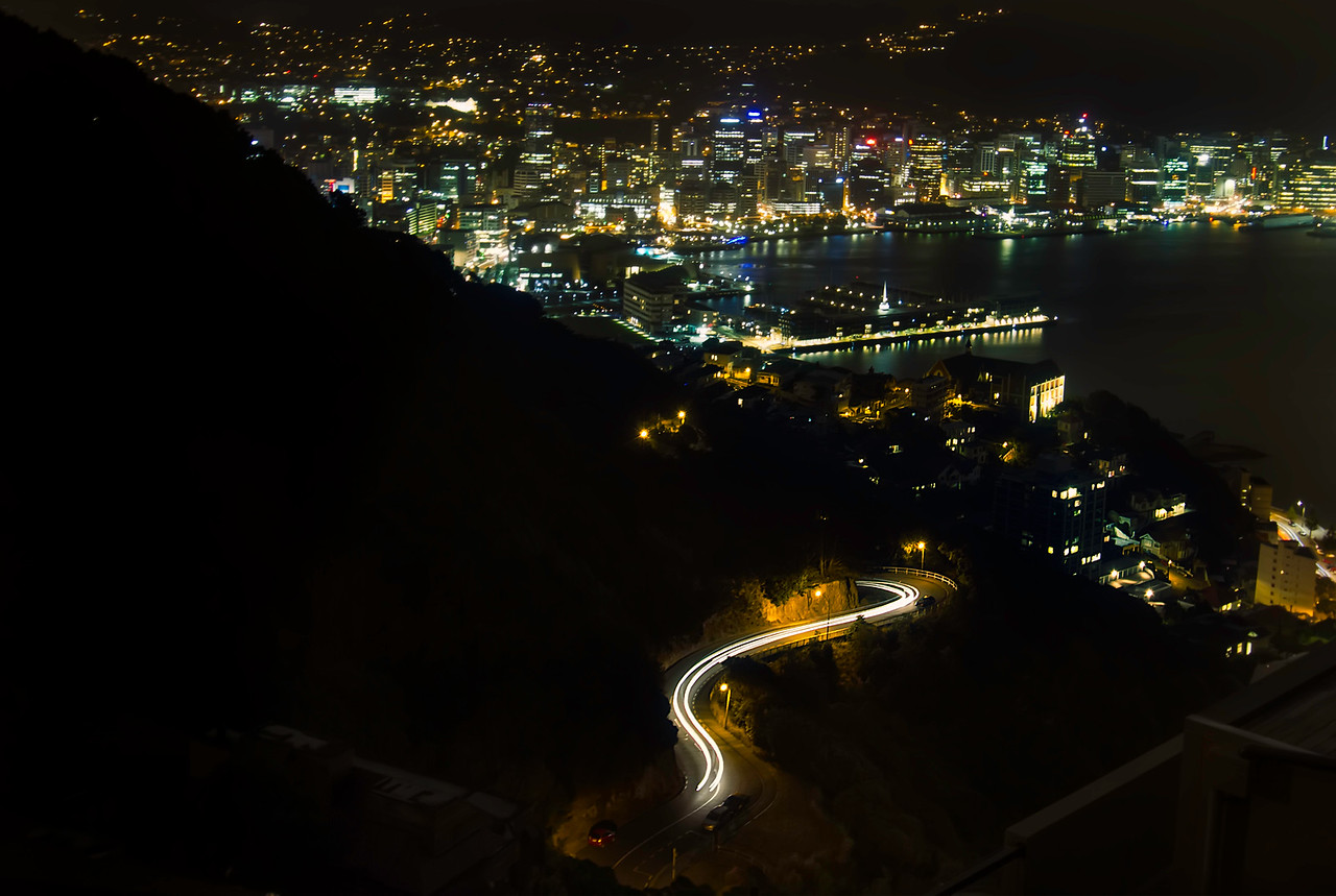 Lights Twinkle over Wellington